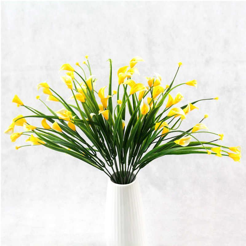 36 cm Künstliche Blumen Calla Kunststoff Gefälschte Blume Bouquet Gypsophila Home Room Decor Hochzeit Party Dekoration Zubehör 52829
