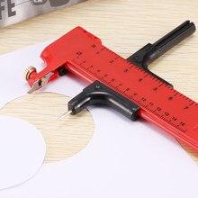 Obrotowy kompas koło Cutter papier karton gumowe winylu skóra sztuka narzędzie rzemieślnicze