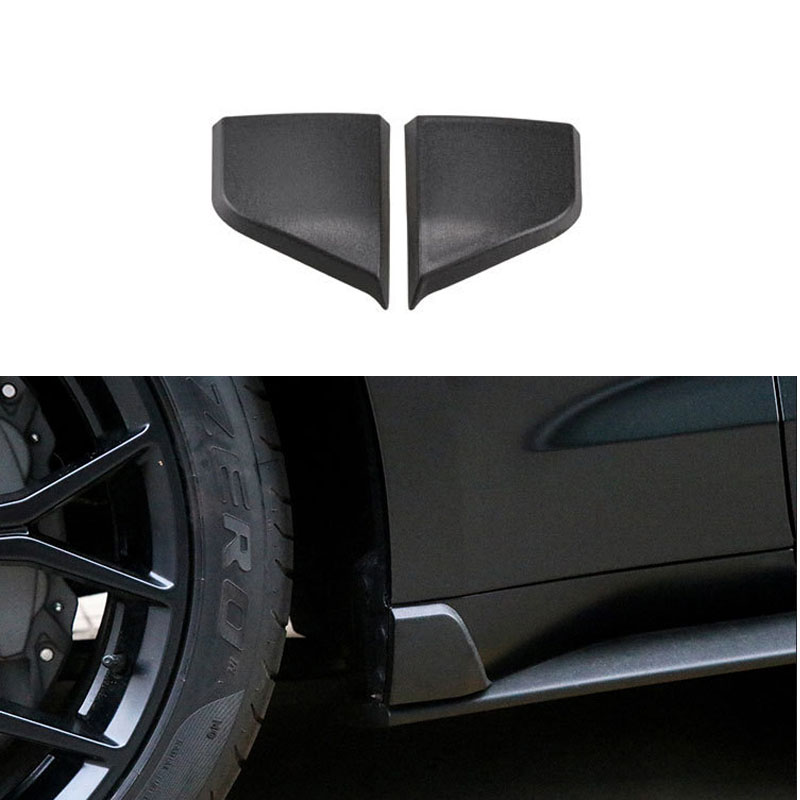 Car Side Door Skirt Fender Mudapron Cover Trim fit For Ford Mustang 2015-2018