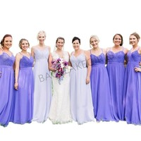 Simple Cheap Purple Bridesmaid Dresses Long A line Chiffon Dress For Bridesmaid 2019