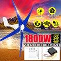 1800 W 12/24/48 V viento para generador de turbina 3/5 hojas de viento controlador de viento hogar + bolsa de accesorios de montaje