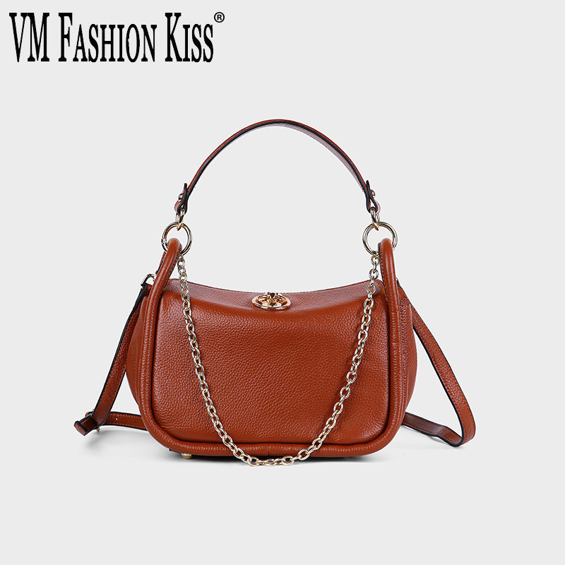 VM FASHION KISS Genuine Leather Saddle Crossbody Ladies Hand Top-handle Bags For Women Handbags High Quality Small Shoulder Bag best quality 2018 new gate shoulder bag women saddle bag genuine leather bags for women free shipping dhl