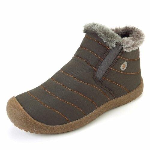 D' À Homem tendão on Do azul Boots Prova Slip Cáqui Quentes Sapatos De Água blue Curto Inverno Forro Pelúcia Boi Botas Neve Sole Ankle Homens Khaki Imitação Rq5YIqw