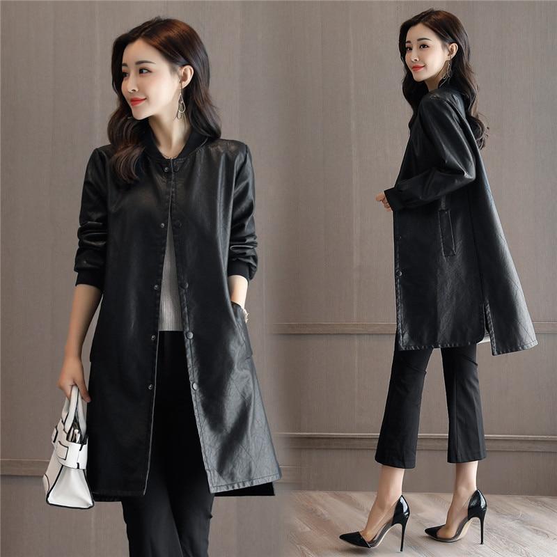 Manteau Coton Cuir Hiver Coréenne Le Longue Femmes Tempérament Black Coupe Fourrure De Minceur En Plus Version vent Automne 2018new Veste FOqpRnU