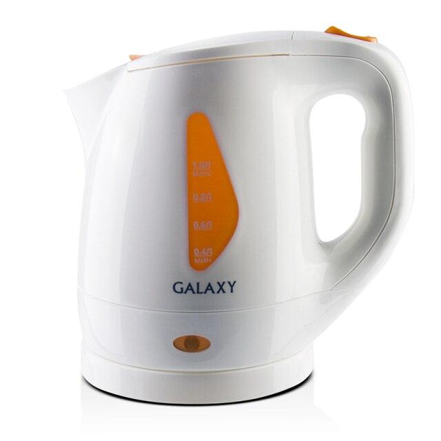 Чайник электрический Galaxy GL 0220 (Мощность 900 Вт, объем 1 л, автоотключение при закипании и отсутствии воды, индикатор работы, съемный фильтр, вращение 360°)