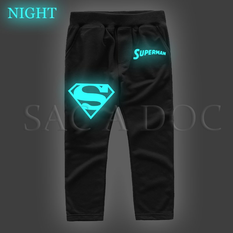 Men's Clothing Superman Superhero Luminous Kids Hoodies Boys Girls Casual Sweatshirt Autumn Winter Long Sleeve Pullover Hooded Kids Best Gift