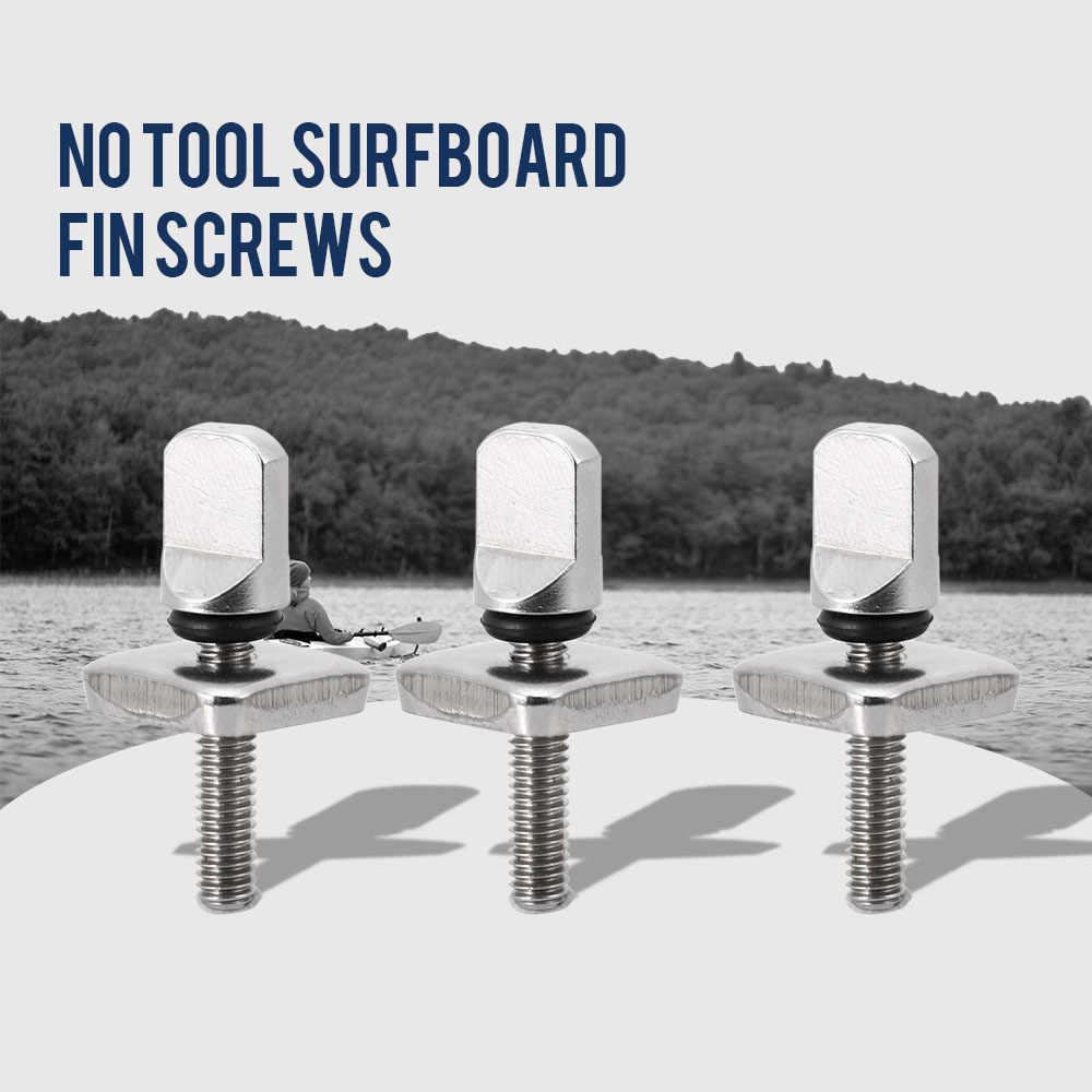 2PCS / 3PCS 공구없는 스테인레스 스틸 롱 보드 핀 나사 및 플레이트 없음 도구 서핑 보드 나사 수상 스포츠 Accecories