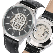 купить Luxury Automatic-Self-Winding Mechanical Watches Leather Black Band Mechanical Watch Business Style Clock Male Gifts дешево