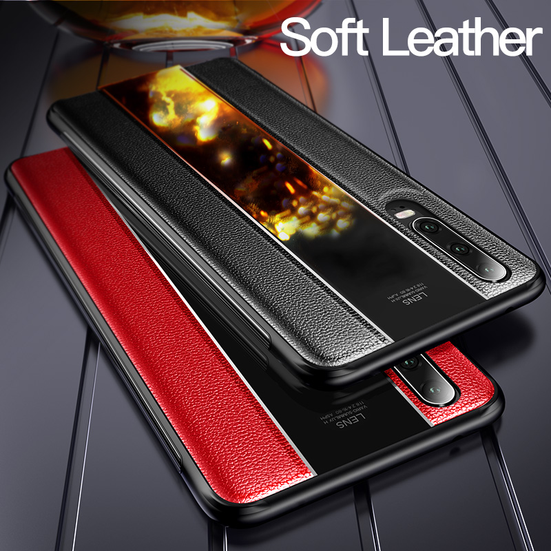 Estojo De Couro Genuíno Para Huawei Msvii Caso Slicone Para Huawei P20 P30 Pro Capa Para P30 Pro Capa Estilo de Negócio caso Coque P 20