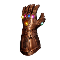 LED Light Thanos Infinity Gauntlet Avengers Costume Infinity War Cosplay Gloves Latex Figure Model Toys Gift Halloween Props