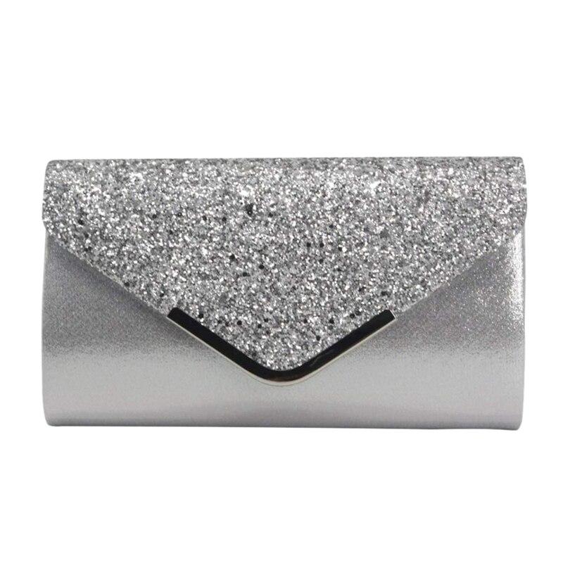 Wedding Party Prom Black Polka Dot Clutch Bag Grey Silver