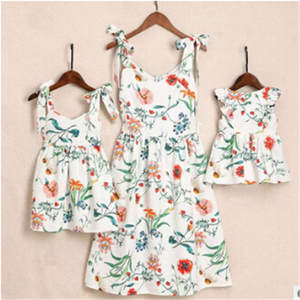 Matching Dresses Outfits Mom Girl Daughter Summer And Cotton