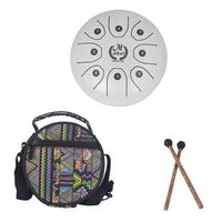 MMBAT 5.5 inch small size steel tongue drum with C D E F G A B C 8 notes with free case and rubber mallets for children instru