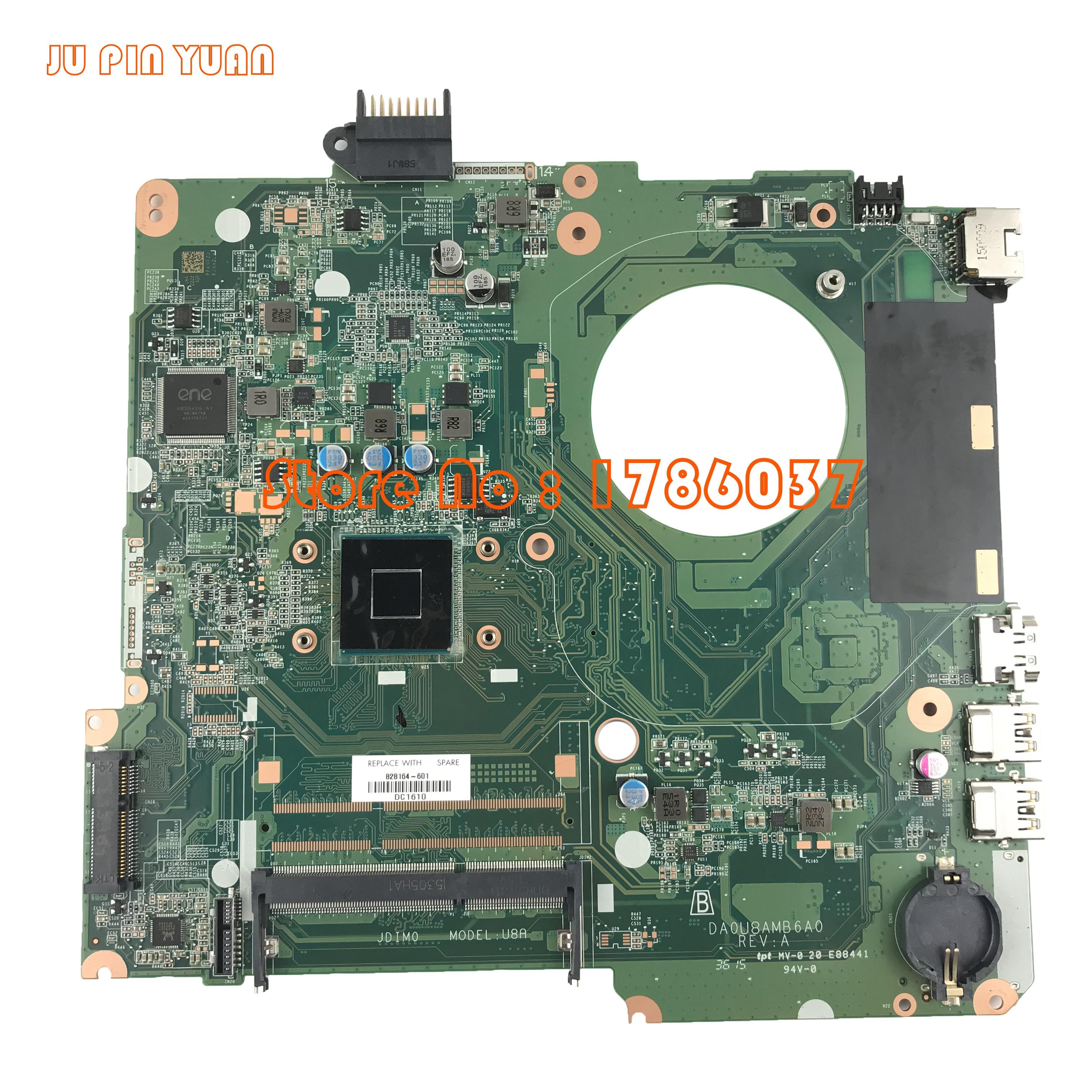 JU PIN YUAN 828164 001 828164 501 DA0U8AMB6A0 Laptop Motherboard For HP Pavilion 15 15 F