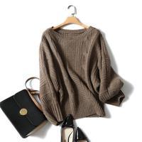 Shuchan свитер женский, с круглым вырезом пуловер с длинными рукавами 100% кашемир вязанные свитера для женщин 2018 модные Джемперы Топы