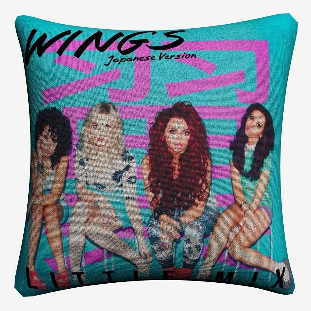 Little Mix skrzydła dziewcząt muzyki dekoracyjna poduszka bawełniana pokrywa 45x45 cm poszewka na poduszkę na kanapie dekoracja domowa na krzesło Almofada