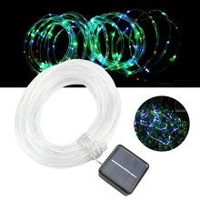 10m 100LED Solar Powered Lamp String w/ Light Control for Guardrail Shopping Arcade Lighting outdoor solar light string