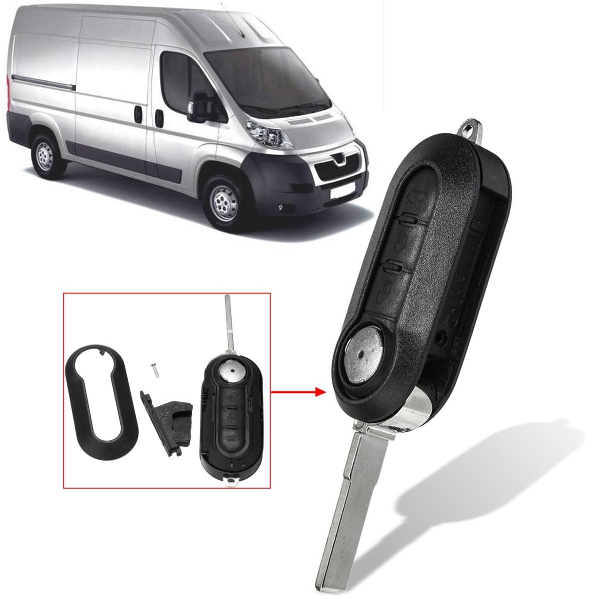 3 Button Car Remote Filp Fob Key Case Shell Replace For Peugeot Boxer Expert Van