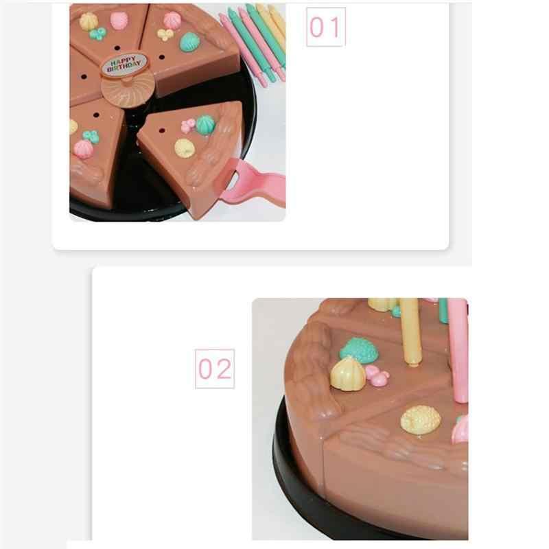 1 шт., игрушка для резки торта, готовка, ранние образовательные пластиковые формы для шоколада, игрушка для ролевых игр, разрезание торта ко дню рождения, набор для еды, игрушка для девочек