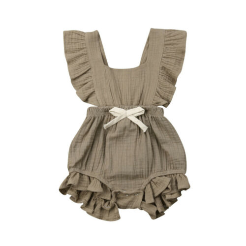 0 24M Summer Newborn Baby Girls Ruffle Solid Color Romper Jumpsuit Outfits Sunsuit Baby Clothing 0-24M Summer Newborn Baby Girls Ruffle Solid Color Romper Jumpsuit Outfits Sunsuit Baby Clothing