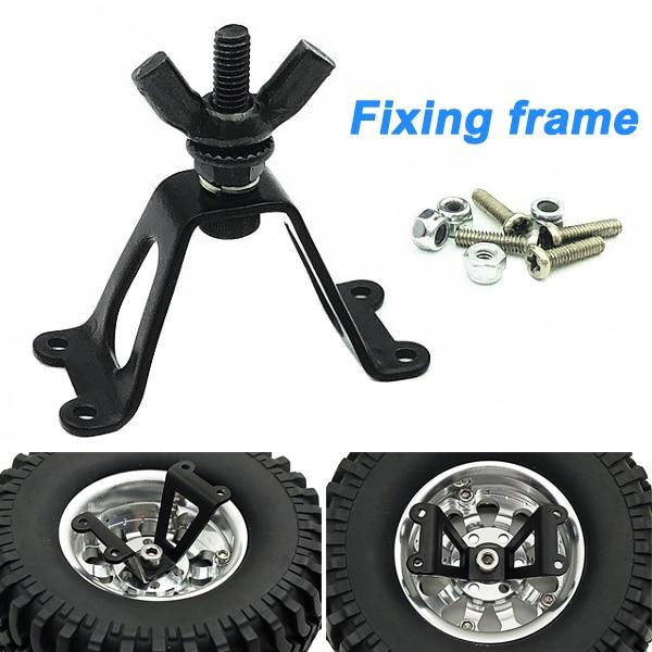 Soporte de rueda de repuesto para neumáticos de Metal de 1 pieza para orugas RC modelo de coche YJS Dropship