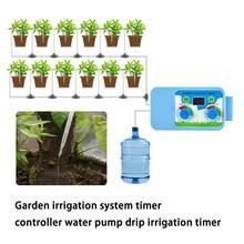 Автоматическая система полива сада водяной насос капельного орошения таймер цветы растение Полив Таймер контроллер для сада дома