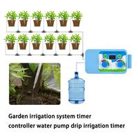 Automatic Garden Irrigation System Water Pump Drip irrigation timer Flowers Plant Watering Timer Controller for Garden Home