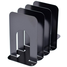 Black Metal Bookends.Sturdy,Non Skid,Heavy Duty.Economic Universal Bookends Support for Books, Movies, DVDs, Magazines, Video