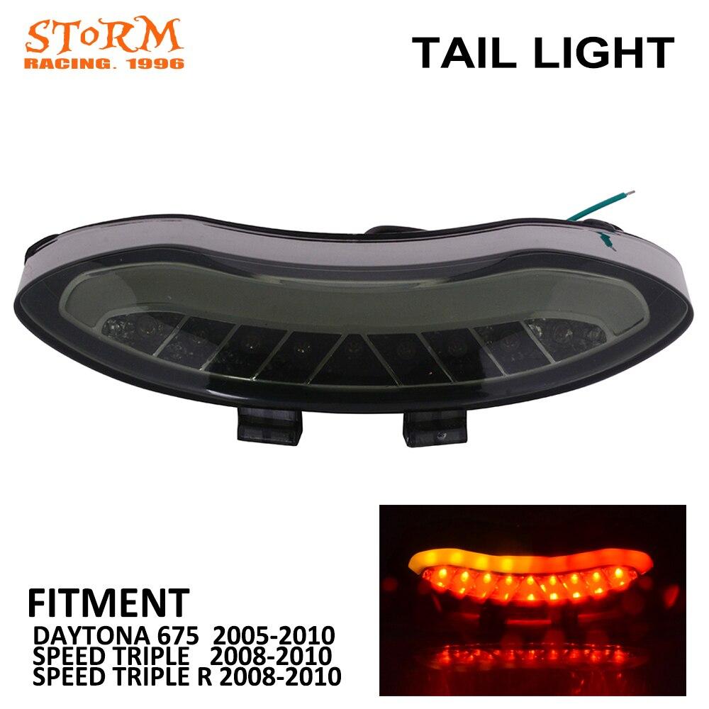 Motorcycle Black Rear Tail Light Brake Integrated LED Taillight For TRIUMPH SPEED TRIPLE R 2008 2009 2010 DAYTONA 675 2005-2010