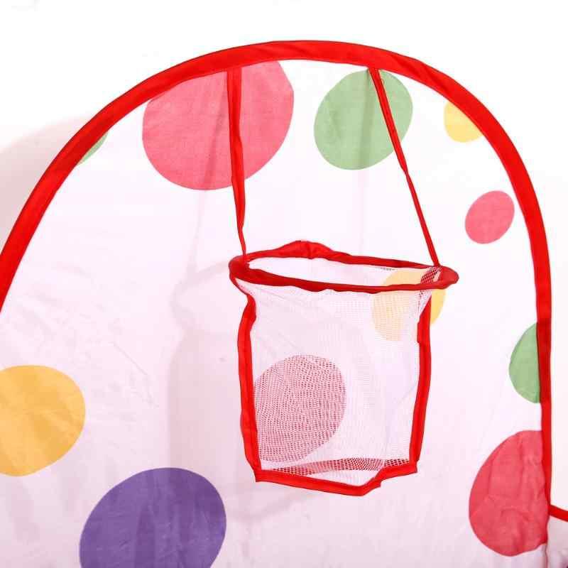 Tenda Besar untuk Anak Lipat Mainan Anak Tenda untuk Ocean Bola Bayi Bermain Bola Kolam Renang dengan Keranjang Outdoor Permainan anak-anak Bola Pit