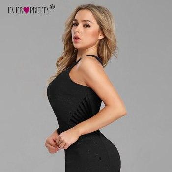 Sexy Prom Dresses Long Ever Pretty EP07780 2020 New Arrival Sleeveless Leg Slit Mermaid Black Sparkle Robe De Soiree 4