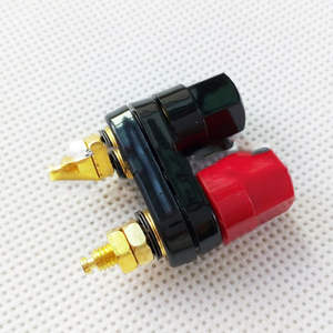 Terminals Plug-Jack Banana-Plugs Black Red Amplifier Binding-Post Couple Top-Selling