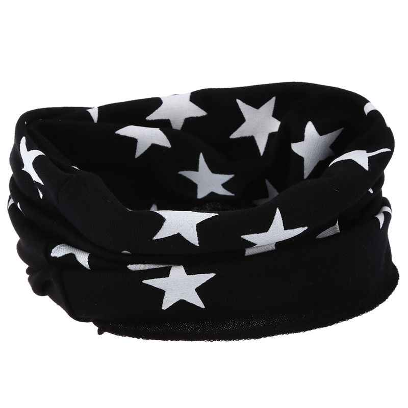 Crianças meninos meninas estrelas padrões o-ring lenço bonito quente scarve neckerchief preto