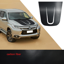 car stickers 1pc cool hood scoop styling graphic vinyl accessories decal custom for mitsubishi pajero sport