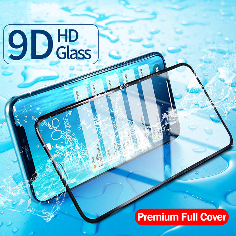 9D Protective Glass for iPhone 7 Screen Protector for iPhone 8 XR XS Max Tempered Glass on for iPhone X 6 6S 7 8 Plus XS Glass