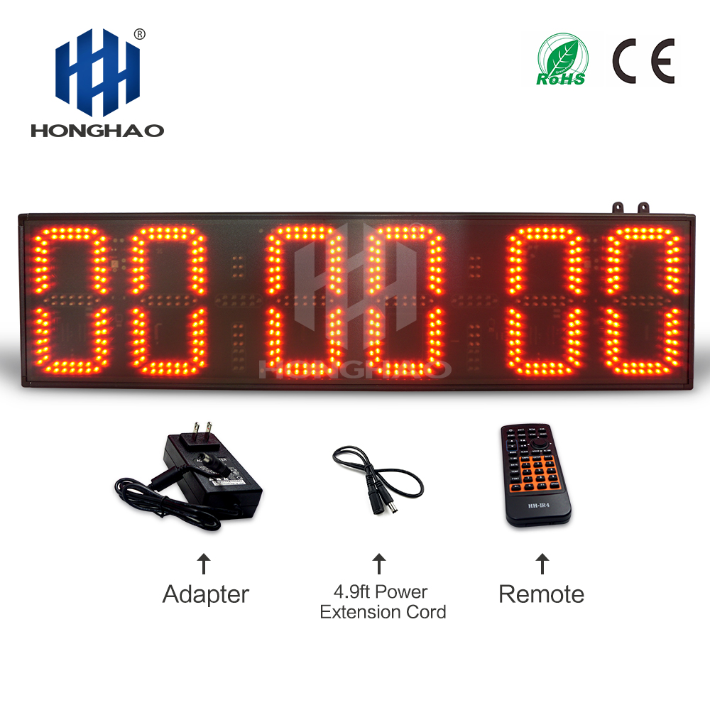 Honghao Large Outdoor Race Timer LED Countdown Clock Electronic Digital Sports Stopwatch Timer Marathon Timer