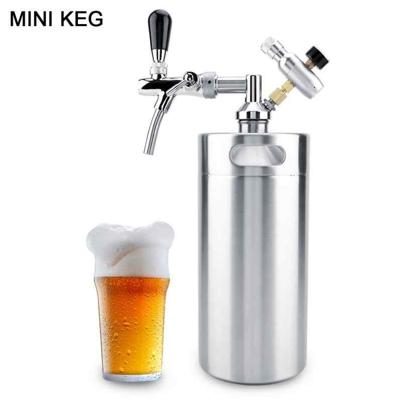Stainless Steel 3.6L Beer Mini Keg Homebrew Keg Air pressure Faucet Can Red Wine Brewing Tools Bottle Accessories
