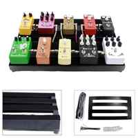 S/M Alloy Metal DIY Guitar Pedal Boards Case Effects Pedalboard Cases for  Electric Guitar Ties 1 Tape with Adhesive Backing