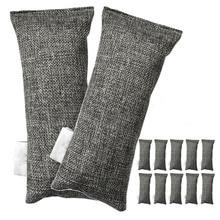 Горячая 12 упаковок каждый мини бамбуковый уголь мешки натуральный очиститель воздуха, дезодорант для обуви и устраняющий запах пакет из 12 мешков