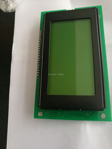 1pcs ACM12864G ACM12864 LED backlight Yellow green display KS0107 KS0108 NJU7670 PCB dimension 113x65 mm original