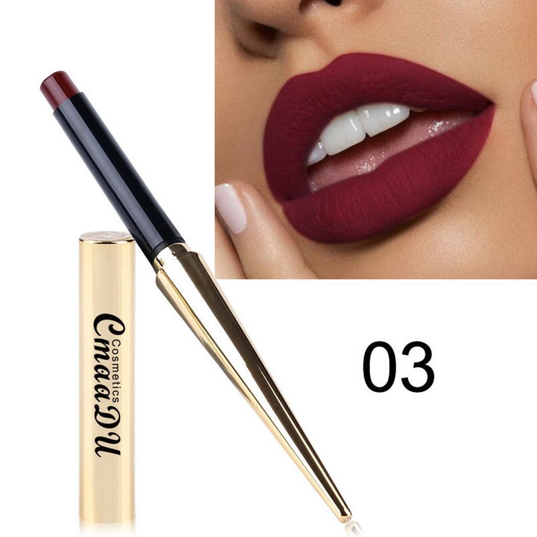 Matte Sexy Nonstick Cup 8 colors Long Lasting Waterproof Make-Up Lipstick silky texture durable Cosmetic
