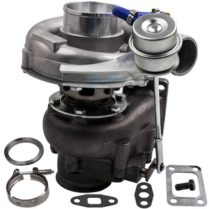 Image 3 - T04E T3 T4 .63 A/R 44 Trim Universal Turbo Charger Compressor 400+HP Stage III Wastegate with Internal Wastegate Universal