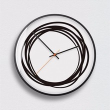 New 3D Wall Clock Minimalist Style Nordic Modern Design Art Silent Movement Sleek Large Size Home Decor