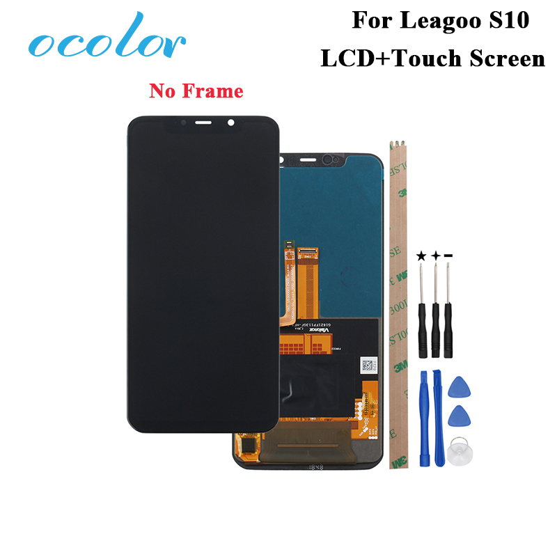 ocolor For Leagoo S10 LCD Display and Touch Screen 6 21 Digitizer Assembly Replacement Tools Adhesive