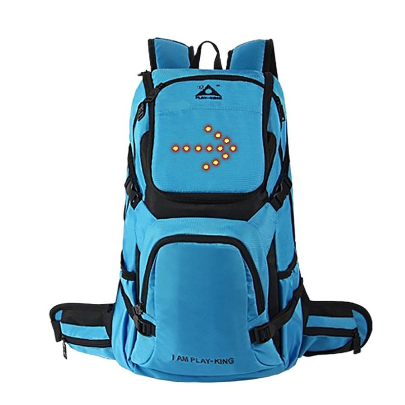 Outdoor Cycling Backpack Breathable Waterproof Reflective Backpack with LED Turn Signals for Traveling Sports Bag for Men women
