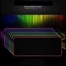 Малый/большой RGB цветное светодиодное освещение USB Gaming Мышь Pad Мышь коврик 350x250x3 мм/800x300x4mm США