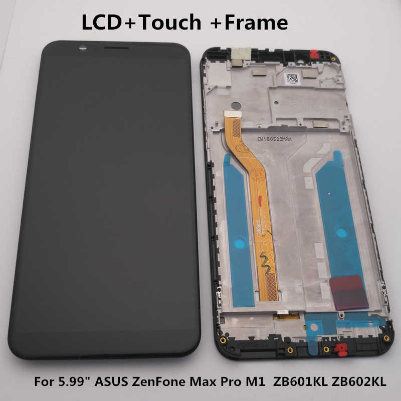 "5.99 ""Originele Voor Asus Zenfone Max Pro M1 Zb601kl Zb602kl Lcd-scherm + Touch Screen Digitizer Vergadering Zb601kl Zb602kl display"
