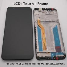 شاشة 5.99 بوصة لـ Asus Zenfone Max Pro M1 Zb601kl Zb602kl LCD + شاشة تعمل باللمس محول الأرقام الجمعية Zb601kl Zb602kl عرض + أدوات