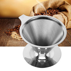 Stainless Steel Pour Over Dripper Coffee One Layer Mesh Filter With Cup Stand Coffee Strainers Tools(China)