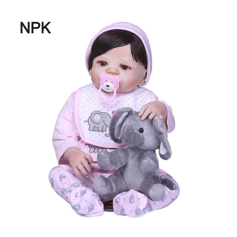 56cm Soft Vinyl Lifelike Simulation Reborn Baby Doll Infant Companion Toy56cm Soft Vinyl Lifelike Simulation Reborn Baby Doll Infant Companion Toy